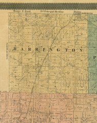 Barrington, Illinois 1890 Old Town Map Custom Print - Cook Dupage Cos.