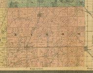Bloom, Illinois 1890 Old Town Map Custom Print - Cook Dupage Cos.