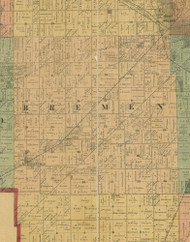 Bremen, Illinois 1890 Old Town Map Custom Print - Cook Dupage Cos.