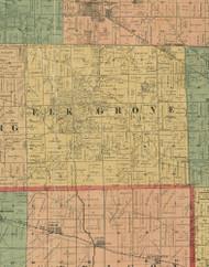 Elk Grove, Illinois 1890 Old Town Map Custom Print - Cook Dupage Cos.