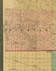 Hanover, Illinois 1890 Old Town Map Custom Print - Cook Dupage Cos.