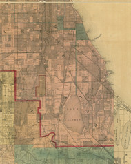 Hyde Park, Illinois 1890 Old Town Map Custom Print - Cook Dupage Cos.