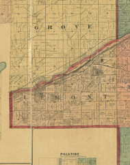 Lemont, Illinois 1890 Old Town Map Custom Print - Cook Dupage Cos.