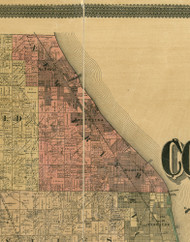 New Trier, Illinois 1890 Old Town Map Custom Print - Cook Dupage Cos.