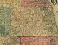 Niles, Illinois 1890 Old Town Map Custom Print - Cook Dupage Cos.