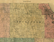 Northfield, Illinois 1890 Old Town Map Custom Print - Cook Dupage Cos.