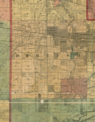 Proviso, Illinois 1890 Old Town Map Custom Print - Cook Dupage Cos.