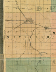 Winfield, Illinois 1890 Old Town Map Custom Print - Cook Dupage Cos.