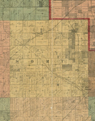 Worth, Illinois 1890 Old Town Map Custom Print - Cook Dupage Cos.