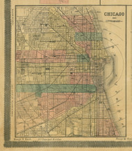 Chicago (Downtown) - Cook Co., Illinois 1890 Old Town Map Custom Print - Cook Dupage Cos.