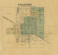 Palatine Village - Cook Co., Illinois 1890 Old Town Map Custom Print - Cook Dupage Cos.