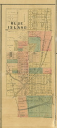 Blue Island - Cook Co., Illinois 1890 Old Town Map Custom Print - Cook Dupage Cos.