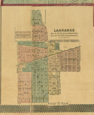 LaGrange - Cook Co., Illinois 1890 Old Town Map Custom Print - Cook Dupage Cos.