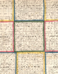 Clinton, Illinois 1860 Old Town Map Custom Print - DeKalb Co.