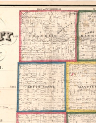 Franklin, Illinois 1860 Old Town Map Custom Print - DeKalb Co.