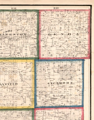 Genoa, Illinois 1860 Old Town Map Custom Print - DeKalb Co.