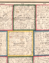 Kingston, Illinois 1860 Old Town Map Custom Print - DeKalb Co.