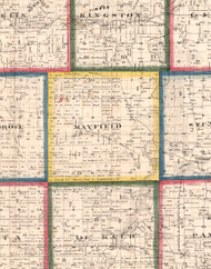 Mayfield, Illinois 1860 Old Town Map Custom Print - DeKalb Co.