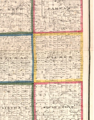 Pierce, Illinois 1860 Old Town Map Custom Print - DeKalb Co.