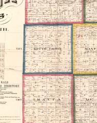 South Grove, Illinois 1860 Old Town Map Custom Print - DeKalb Co.