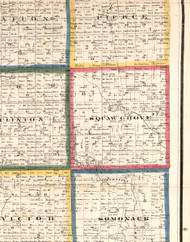 Squaw Grove, Illinois 1860 Old Town Map Custom Print - DeKalb Co.