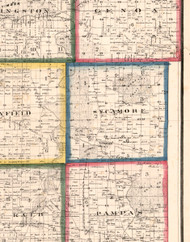 Sycamore, Illinois 1860 Old Town Map Custom Print - DeKalb Co.