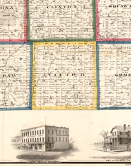 Victor, Illinois 1860 Old Town Map Custom Print - DeKalb Co.