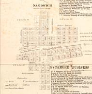 Sandwich - DeKalb Co., Illinois 1860 Old Town Map Custom Print - DeKalb Co.