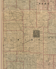 Albion, Illinois 1891 Old Town Map Custom Print - Edwards Co.