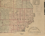 French Creek, Illinois 1891 Old Town Map Custom Print - Edwards Co.