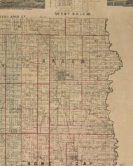 Salem, Illinois 1891 Old Town Map Custom Print - Edwards Co.