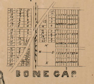 Bone Gap Village - Edwards Co., Illinois 1891 Old Town Map Custom Print - Edwards Co.
