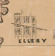 Ellery - Edwards Co., Illinois 1891 Old Town Map Custom Print - Edwards Co.