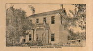 Res. of Edward Kershaw - Edwards Co., Illinois 1891 Old Town Map Custom Print - Edwards Co.