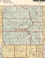 Barren, Illinois 1900 Old Town Map Custom Print - Franklin Co.