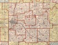 Benton, Illinois 1900 Old Town Map Custom Print - Franklin Co.