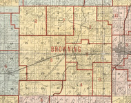 Browning, Illinois 1900 Old Town Map Custom Print - Franklin Co.