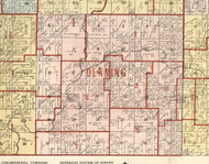 Denning, Illinois 1900 Old Town Map Custom Print - Franklin Co.