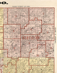 Northern, Illinois 1900 Old Town Map Custom Print - Franklin Co.