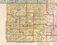 Six Mile, Illinois 1900 Old Town Map Custom Print - Franklin Co.