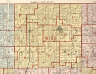 Wing, Illinois 1900 Old Town Map Custom Print - Franklin Co.