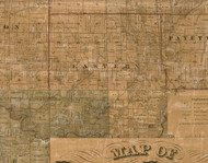 Eastern, Illinois 1861 Old Town Map Custom Print - Greene Co.