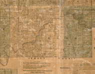Kane, Illinois 1861 Old Town Map Custom Print - Greene Co.