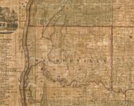Walkerville, Illinois 1861 Old Town Map Custom Print - Greene Co.
