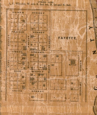 Fayette Village - Greene Co., Illinois 1861 Old Town Map Custom Print - Greene Co.