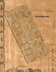 Columbiana - Greene Co., Illinois 1861 Old Town Map Custom Print - Greene Co.