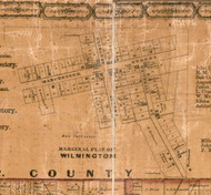 Wilmington - Greene Co., Illinois 1861 Old Town Map Custom Print - Greene Co.