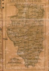 Geolical Survey of Illinois - Greene Co., Illinois 1861 Old Town Map Custom Print - Greene Co.