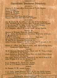 Carrollton Business Directory Part 1 - Greene Co., Illinois 1861 Old Town Map Custom Print - Greene Co.
