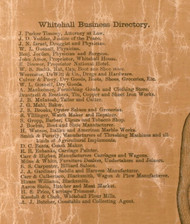 White Hall Business Directory - Greene Co., Illinois 1861 Old Town Map Custom Print - Greene Co.